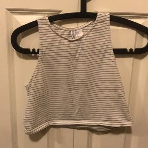 Striped tank top cropped
